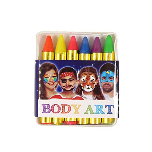 LUCKY Art Neon Colours Face and Body Crayons Maquillaje