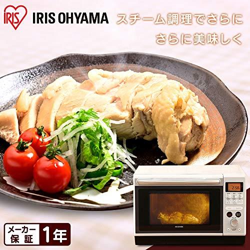 アイリスオーヤマ 過熱水蒸気 スチームオーブンレンジ 24L ホワイト MO-F2402