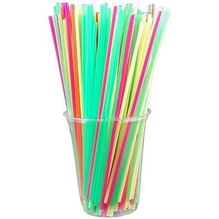 Berkley Square Neon Assorted Colors  Stirrer Straws 778661