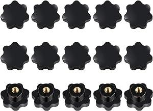 15pcs M8 Rosca Forma de Estrella, Tuerca M8 estrella Perilla de Sujeción de Rosca Negra Plástica Perilla de Sujecion Estrella Cabeza de Sujeción Tuerca para Máquina Herramienta
