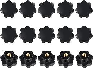 PRINDIY 4 St/ück Sterngriffe Griff Messingeinsatz Innengewinde M5 Durchmesser schwarz