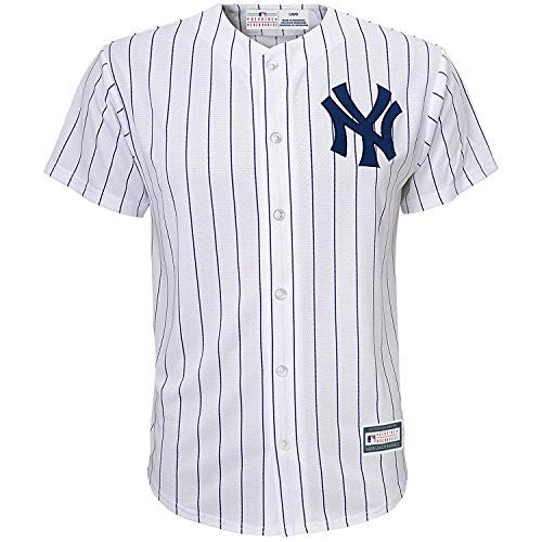 Outerstuff MLB 4-7 Kids Blank Cool Base Home Color Team Jersey (7, New York Yankees Home White)