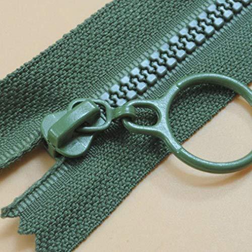 HJCWL 2 stks hars ritsen voor naaien decoratieve kinderen kleur rits trekker slaapzak rits voor kleding accessoires, legergroen, dichtbij 25 cm