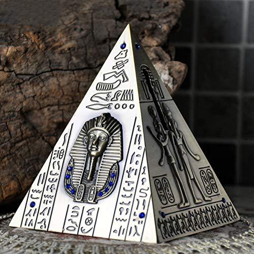 Banco De Dinero, Antiguo Egipto Antiguo Egipto Pirámide De La Pirámide Cambio De La Hucha, Todo Material Material Regalo Cumpleaños 0428C(Size:20 * 18cm)