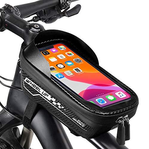 Borsa Telaio Bici,Bici Borse Bicicletta Telaio,Bici Borse Bicicletta Telaio Anteriore Borsa Impermeabile,Borsa Telefono Bici con Visiera Telaio Anteriore Borsa MTB Borsa per sotto 6.5 pollice Telefono