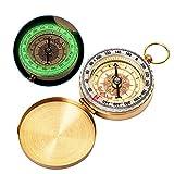 Bahfir Camping Survival Compass Metal Pocket Compass Kids Compass for Hiking Camping Hunting Outdoor Military Navigation Tool