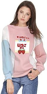 Women GOT7 Kawaii Sweet Cute Girl's Color Block Hoodies Loose Sweatshirts