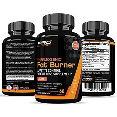 Thermogenic Fat Burner & Appetite Control Weight Loss Supplement– Revolutionary Formula that Increases Metabolism & Burns Fat. Superior Appetite Suppressant & Increases Energy for Men & Women