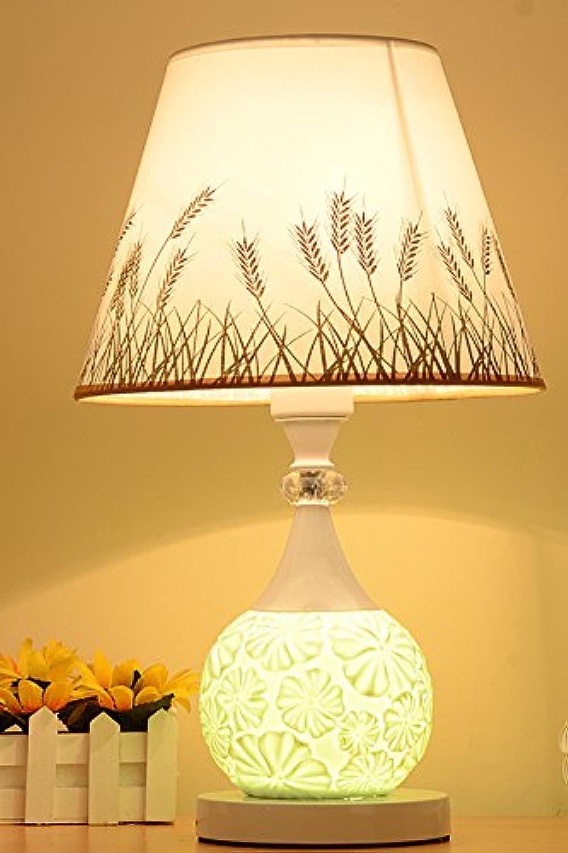 YU-K Nordic moderne, einfache einfache einfache Fernbedienung Keramik Ehe Zimmer romantisches Schlafzimmer tuch Nachttischlampe kreative dekorative Lampe Dimmen 42  27 CM, Druckschalter B072XSDP23 | Outlet Store Online  c3863b