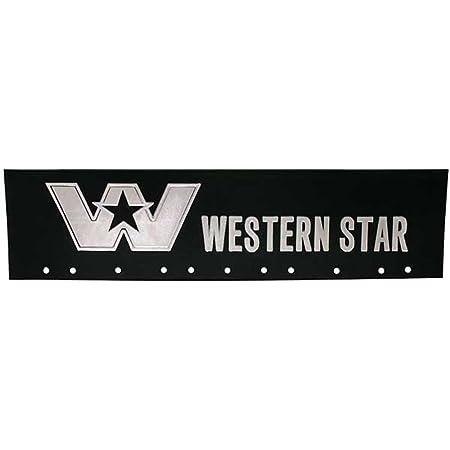 AeroPro Western Star 6 x 24 White Semi Truck Mud Flap-Quarter Fender Flaps-Set