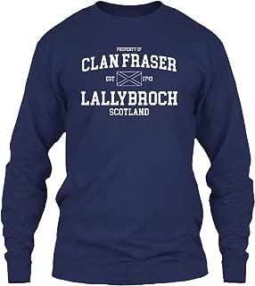 Property of Clan Fraser. Long Sleeve Tshirt - Gildan 6.1oz Long Sleeve Tee