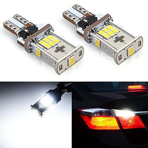 JDM ASTAR Super Bright Error Free 360-Degree Shine 921 912 GX-3020 Chipsets White LED Bulbs For Backup Reverse Lights