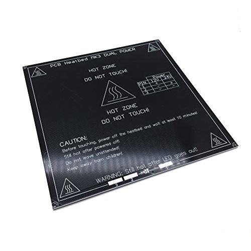 AptoFun Mk3 alluminio 3d stampante 3d riscaldamento letto letto di stampa (214 * 214 * 214 * 3mm) per la stampante Reprap 3D (angoli dritti)