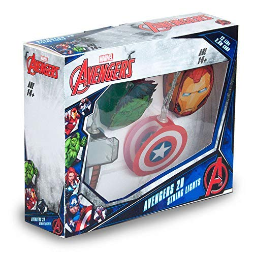 Marvel Luci per Party Notturno, Metallo, Other/Mixed, One Size