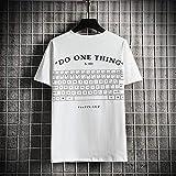 Camiseta para Hombre,Camisetas Extragrandes Hip Hop De La Novedad,Camiseta De Manga Corta con Estampado De Teclado Creativo Hipster Tops Casual Streetwear para Adolescentes Verano Al Aire Libre,Blanc