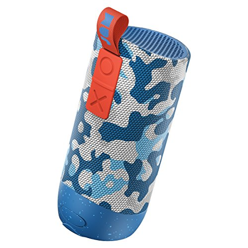 Jam Zero Chill Pairable Bluetooth Speaker, 30 Metre Range, Waterproof, 22 Hour Playtime, Dust Proof, Drop Proof IP67 Rating, Built In Speakerphone, Aux In Port, USB Charging - Camo