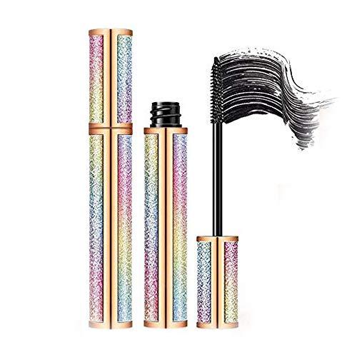 Vivid Galaxy Mascara,Seidenfaser Mascara 4D,Wimperntusche Wasserfest für dickere, Voluminöse Wimpern, Wasserfest, Wischfest, den Ganzen Tag über Exquisit Lang