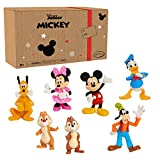 Mickey Mouse 7-Piece Figure Set, Easter Basket Stuffers, Toys for 3...