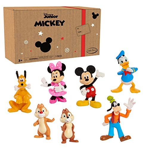 Mickey Mouse 7-Piece Figure Set, Easter Basket Stuffers, Toys for 3 Year Old Boys, Amazon Exclusive