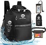 Etechydra Dry Bag Mochila impermeable de 10 litros, ultraligera, impermeable, para exteriores, para barcos, playa, kayak, camping, piragüismo, natación, pesca, senderismo, color negro