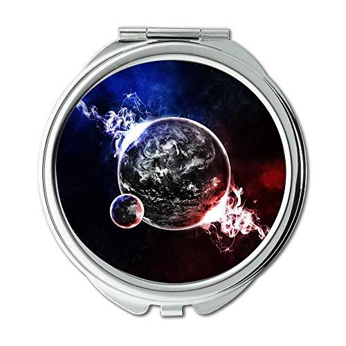 Yanteng Spiegel, Maus Weg konzentrieren, träumen Erde, Erde Blue Planet Globus Planet Space Universe Schminkspiegel, Taschenspiegel, Tragbare Spiegel
