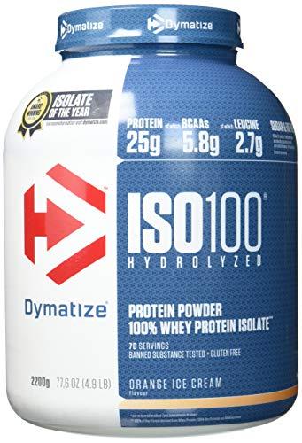 Dymatize ISO 100 Orange Ice Cream 2,2kg - Whey Protein Hydrolysat + Isolat Pulver