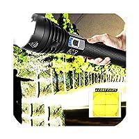 Ezk20 Xhp90懐中電灯ズームUSB充電式パワーディスプレイ強力トーチ18650 26650ハンドヘルドライト、パッケージA-Xhp50、バッテリーなし