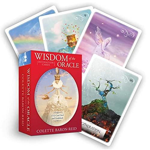 Tarjetas De Adivinación Wisdom of The Oracle, Juegos De Tarjetas Oracle Utilizadas para Adivinar Y Predecir El Futuro, Adecuadas para Juegos De Mesa De Fiesta (Embalaje, Manteles)