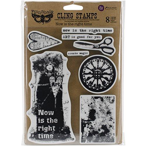 Prima Marketing finnabair Cling–Sellos Ahora es el Momento, 6x7.5-Inch