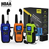 3 Long Range Walkie Talkies Rechargeable for Adults - NOAA FRS GMRS UHF 2 Way Radios Walki...