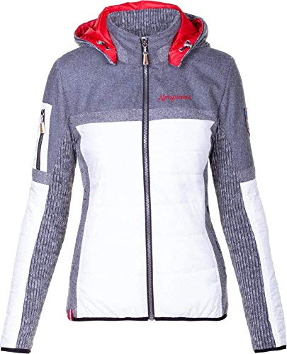 Almgwand W Nordspitze Grau-Weiß, Damen Primaloft Jacke, Größe 46 - Farbe White - Grey