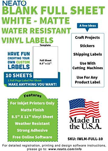 Printable Matte Vinyl Sticker Paper