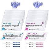 test ovulazione hcg15-lh40, 15 strisce per test gravidanza e 40 strisce per stick ovulazione con 55 tazze per urina test di gravidanza precoce affidabile e rapido