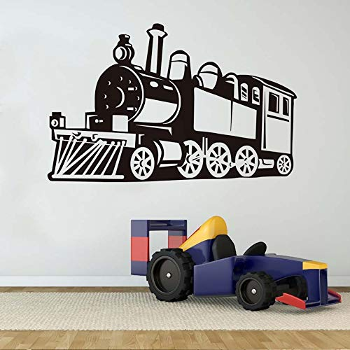 Tianpengyuanshuai Creative Wall Decoration Vinyl Openwork Steam Trek Wall Sticker Boy Room Silhouet Transport