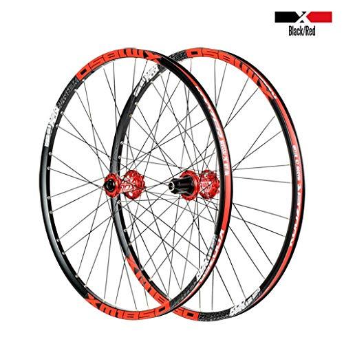 Bicycle Wheelset 26 27.5 Inch MTB Bike Wheels Double Wall Alloy Rim 23mm Cassette Hub Sealed Bearing Disc Brake QR 8-11 Speed 1850g 32H
