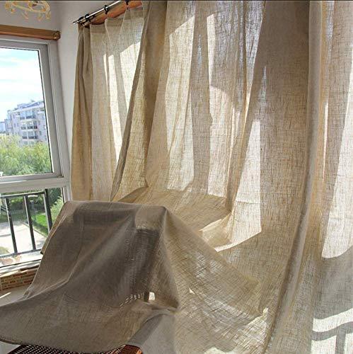 Tenda Effetto Lino (1 Pannello) Stile Minimalista Nordico Soggiorno Camera da Letto Decorazione della Tenda da Pavimento Semi-ombreggiata Installazione del punzone (Grigio),230x240cm