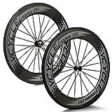 VCYCLE Nopea 88mm カーボンファイバーレーシングロードバイクホイールセット700C 自転車ホイールチューブラーシマノ8/9/10/11スピード