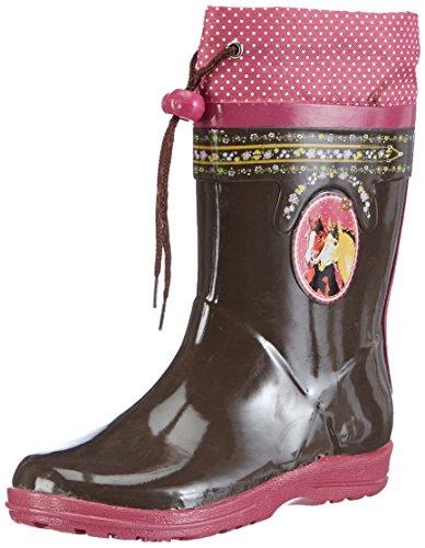 Pferdefreunde Mädchen 130075 Gummistiefel, Braun Braun, 26 EU