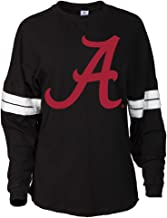 Official NCAA Alabama Roll Tide - State Pride 03AL-1 Women's Oversized Football Tee with Stripes