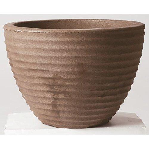 Stewart Vaso Basso a Forma di vasetto di Miele, plastica, Brown, 49 cm