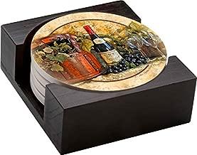 Thirstystone Stoneware Coaster Set, Gift Set, Wine Picnic - HA42