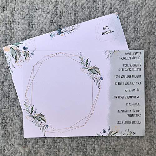 Postkarten Hochzeit Postkartenspiel Ein Jahr voller Grüße 52 Karten für das Brautpaar