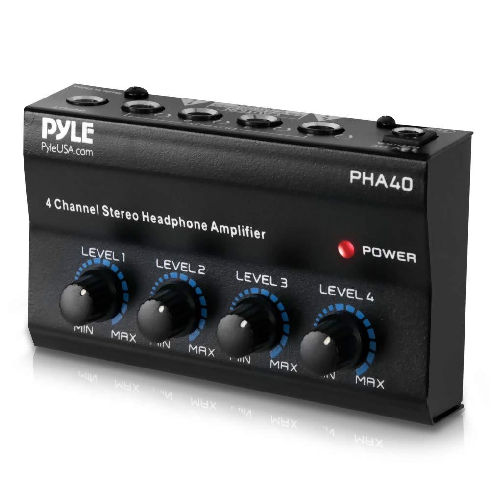 Pyle Pro PHA40 4 Channel Headphone Amplifier