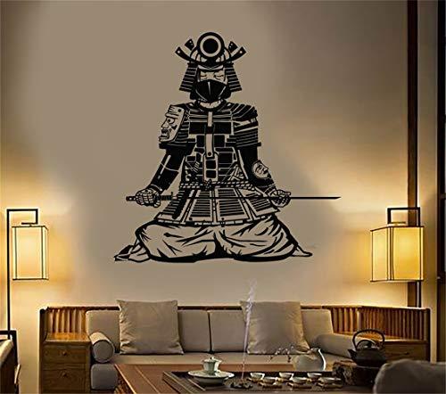 Vinyl Wandtattoos Zitate Sprüche Wörter Kunst Dekor Schriftzug Vinyl Wandkunst Asiatischen Samurai Japanischen Krieger Stil Kostüm CatanaSword (45x51 cm)