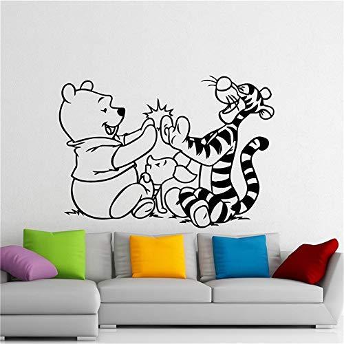 Winnie l'ourson décalque Winnie l'ourson Winnie l'ourson ours tigger de bande dessinée autocollant chambre d'enfant décoration intérieure