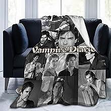 Manta De Vampire Diaries, Manta De Felpa De Franela Suave Y CáLida, Manta De Felpa Para Sofá Con ImpresióN Digital Para DecoracióN Del Hogar, Adecuada Para Cama, Dormitorio, Oficina (50 X 40 Pulgadas)