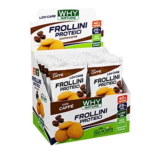 WHY NATURE Frollini Proteici Low Carb smaak koffie glutenvrij zakje 30g