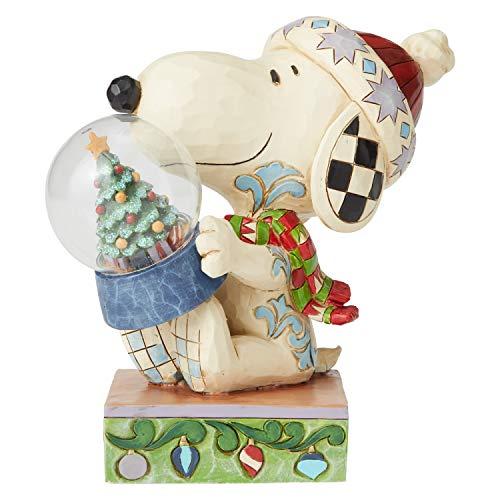 Enesco Peanuts by Jim Shore Snoopy Holding Figurine, 5.25 Inch, Multicolor