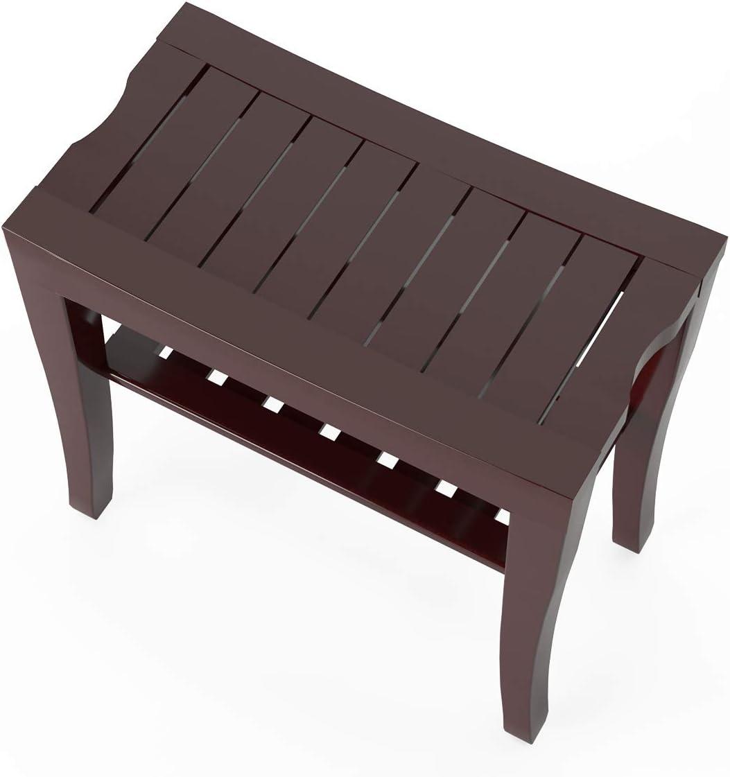 SDHYL Bamboo Bathroom Spa Shower Bench Foot Stool Bathing Seat ...