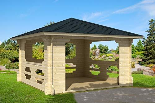 Prikker-Gartenhaus Ibiza-40 - Pérgola de madera, 400 cm x 400 cm, 40 mm, para jardín